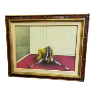 Vintage Mid-Century Surrealist Print by Paul Wunderlich Signed & Numbered 40/75 For Sale