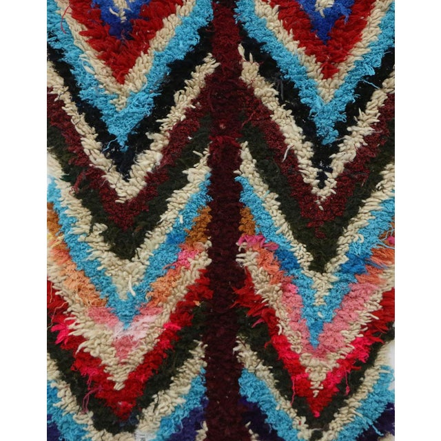 """Boho Chic 1980s Vintage Azilal Rug- 2'7"""" X 5'5"""" For Sale - Image 3 of 6"""