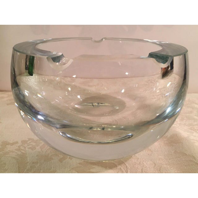 Mid-Century Clear Glass Orb Ashtray - Image 3 of 8