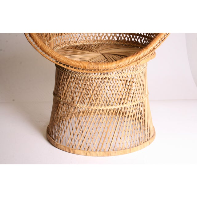 Wicker Vintage Boho Chic Wicker Pod Chair For Sale - Image 7 of 11