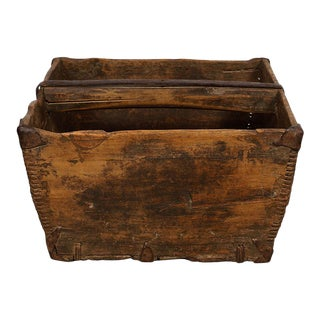 Antique Chinese Official Wooden Rice Grain Bucket For Sale