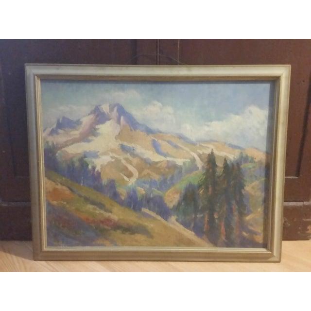 Oregon Impressionist Oil Painting of Mt. Hood - Image 2 of 8
