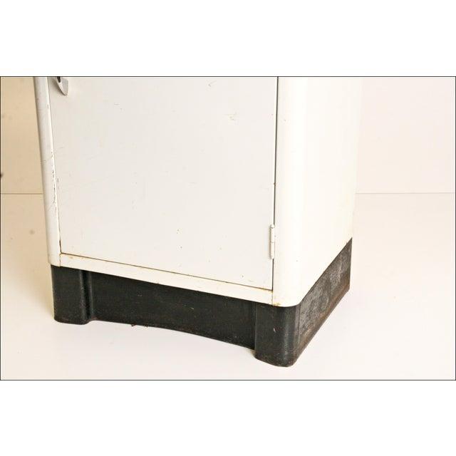 Mid-Century Enamel Top Metal Storage Cabinet - Image 9 of 11