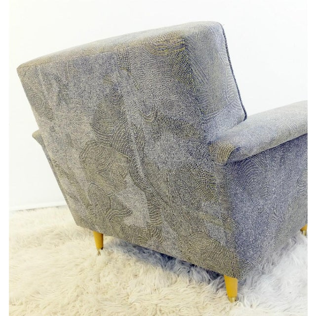 Pair of American Armchairs, Rowe - New Upholstery by Pierre Frey Collection For Sale - Image 4 of 6