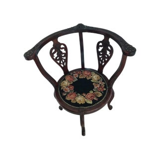 Early 20th Century Mahogany Needlepoint Seat Chair For Sale