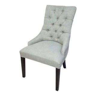 Modern Restoration Hardware Martine Fabric Tufted Arm Chair For Sale