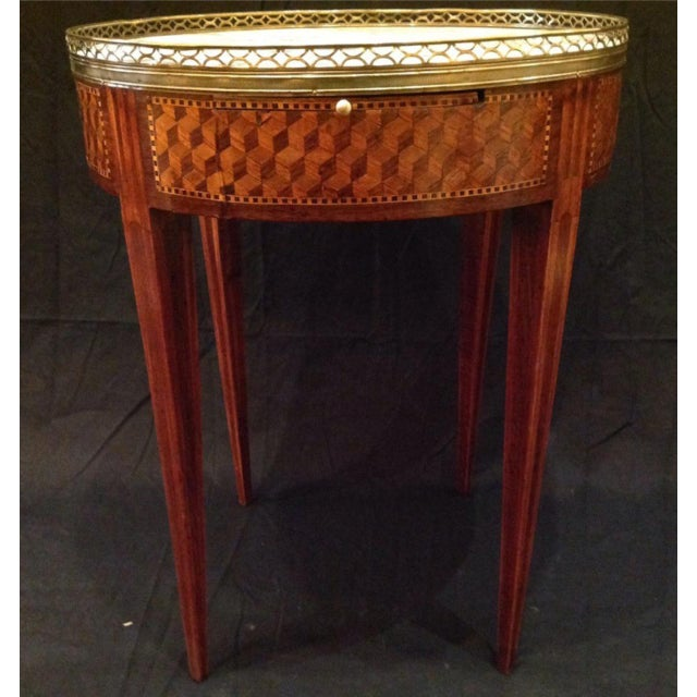 19th Century French Inlaid Bouillotte Table For Sale In New Orleans - Image 6 of 9