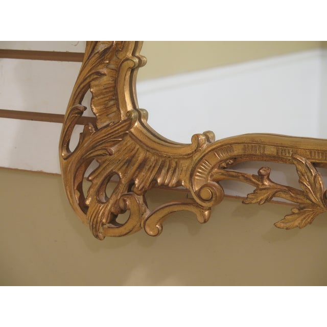 Glass Carvers Guild Highly Carved Frame Gold Mirror For Sale - Image 7 of 11