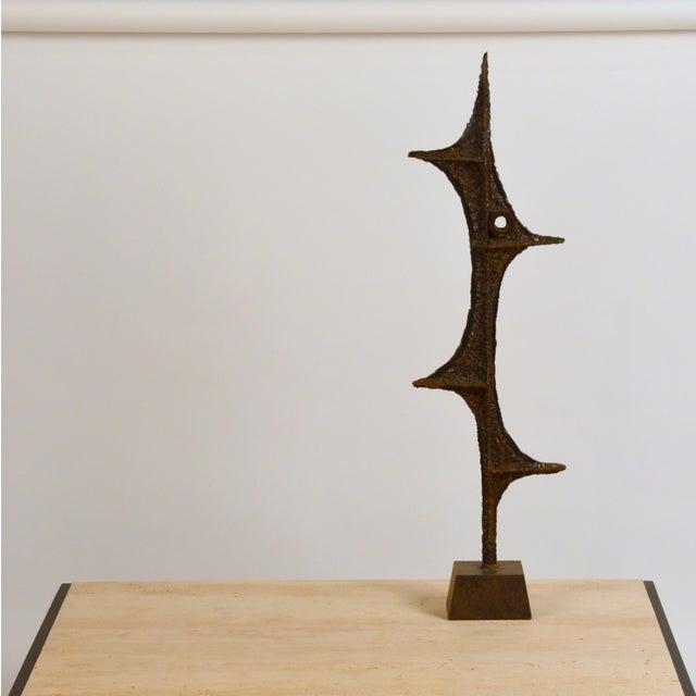 Tall Brutalist Studio Sculpture by John De La Rosa For Sale - Image 11 of 11