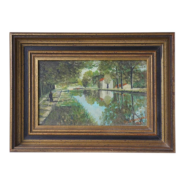 1980s French Landscape Painting For Sale