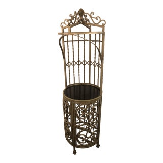 1990s Traditional Silver Metal Etagere For Sale