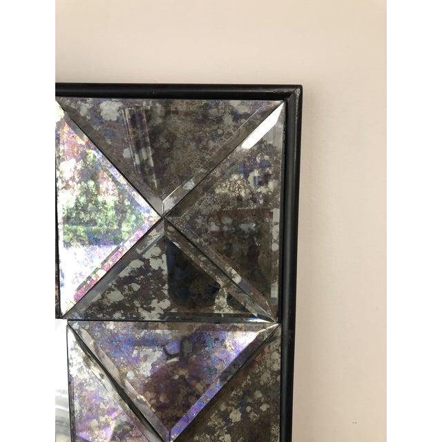 Vintage Purple Faceted Frame Oversize Mirror For Sale In Houston - Image 6 of 9