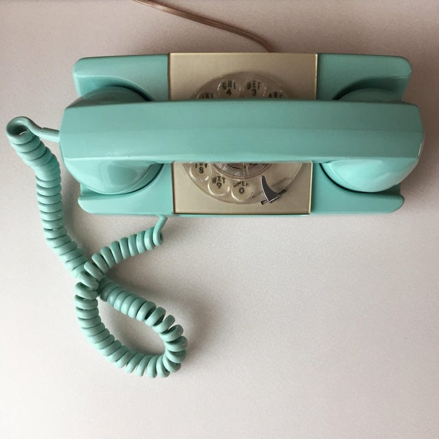 GTE Automatic Electric Aqua Starlite Princess Style Rotary Telephone For Sale - Image 11 of 11