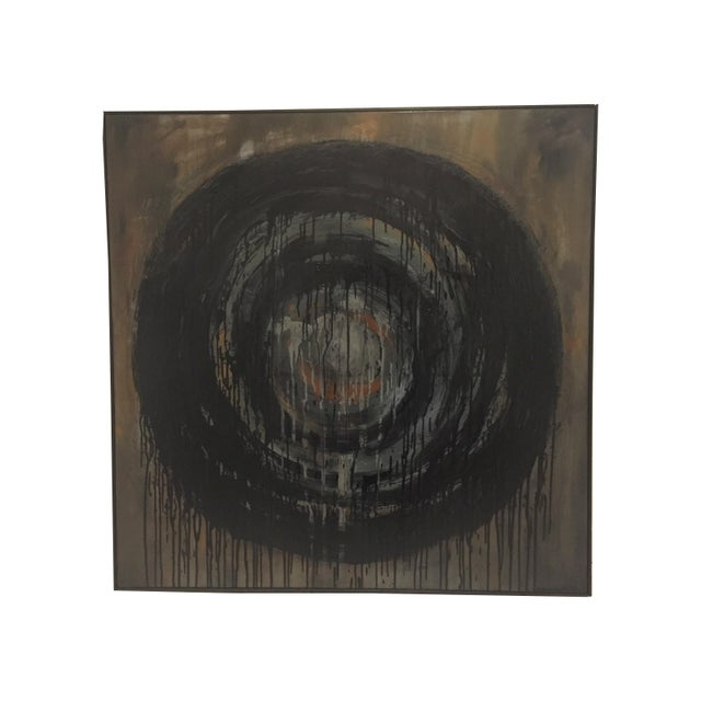 Kennan Del Mar 'Black Hole on Black' Painting, Oil and Pastel on Canvas For Sale In Chicago - Image 6 of 6