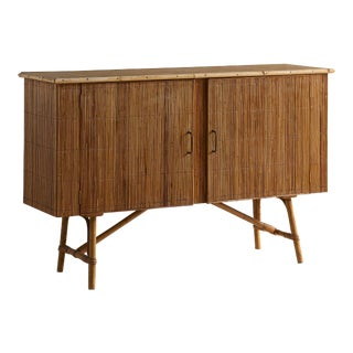 French Bamboo Buffet For Sale
