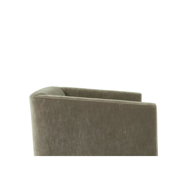 Gray Mid-Century Modern Tub Chairs in Chenille For Sale - Image 8 of 12