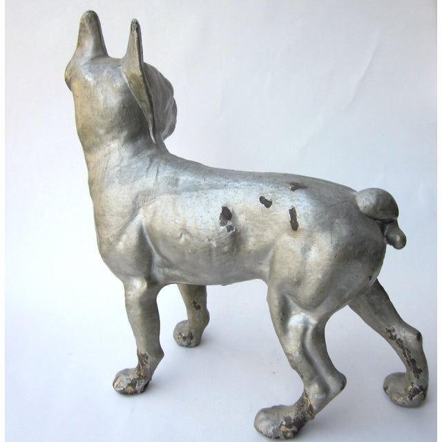 1930s 1930s Vintage Cast Iron Boston Terrier Doorstop / Figurine For Sale - Image 5 of 8