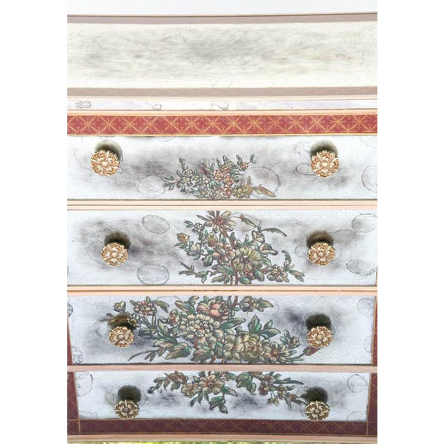 Red 1940s Églomisé Mirrored Chest of Drawers - a Pair For Sale - Image 8 of 13
