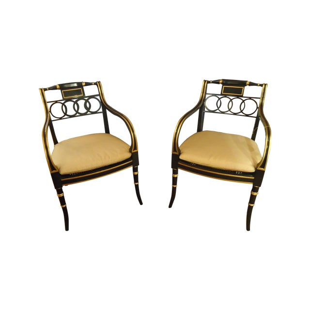 Regency Style Armchairs by Baker - Pair - Image 1 of 4