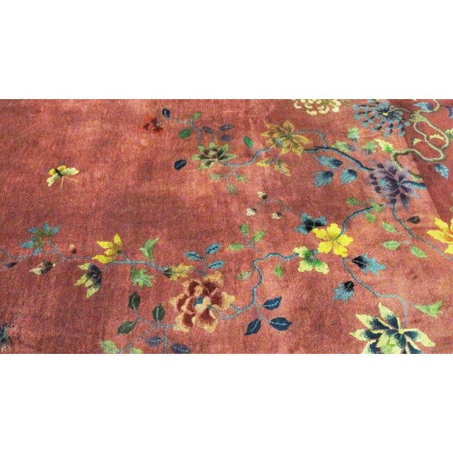 """Antique Art Deco Chinese Oriental Rug-8'8""""' X 11'3"""" For Sale - Image 4 of 10"""