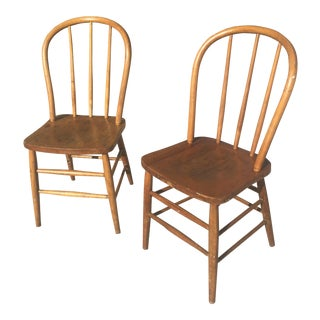 French Bentwood Grange Chairs - A Pair
