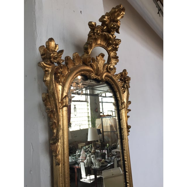 Italian Rococo Gilt Tall Mirror by La Barge - Image 9 of 10