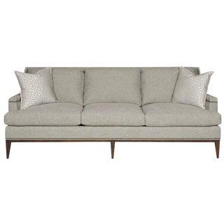 Gray Contemporary Nail Head Trimmed Sofa