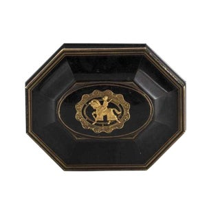 Antique Signed Louis Philippe Style Gilt Bronze Ebonized Jewelry Box - Tahan, Paris For Sale
