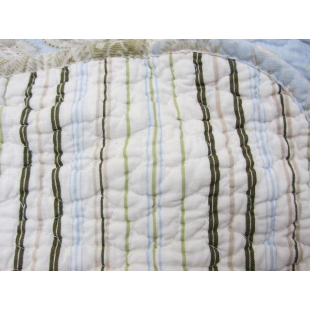 Paisley Stripe Cotton Full/Queen Coverlet Quilt - Image 5 of 5