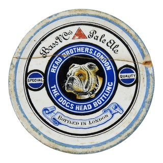"Bulldog ""Dogs Head Pale Ale"" Ironstone Coaster"