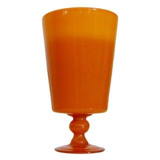 Vintage Swedish Footed Art Glass Vase by Erik Höglund, Boda For Sale