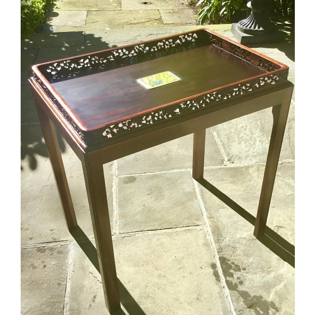 Chinoiserie Chippendale Rosewood Tray Table For Sale - Image 12 of 12