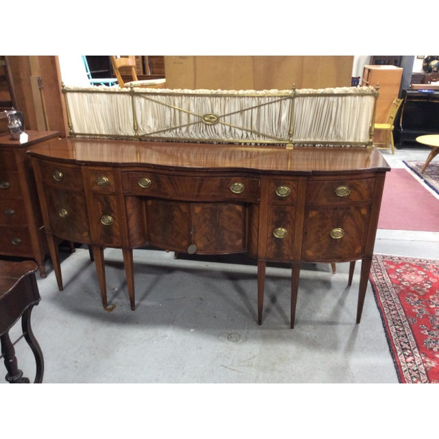 1940s 1940s Hepplewhite Style Mahogany Sideboard With Inlay For Sale - Image 5 of 10