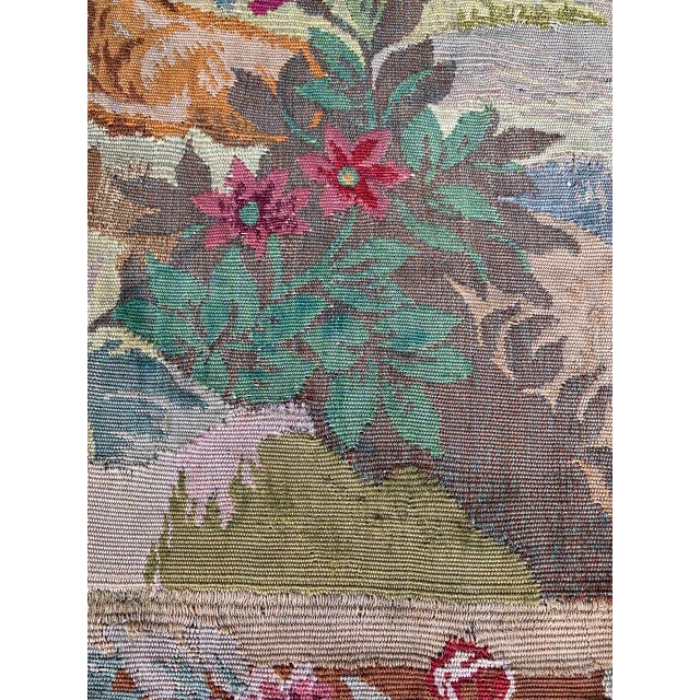 Late 19th Century Late 19th Century French Des Bois Tapestry- 6 X 6' For Sale - Image 5 of 13