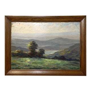 Antique Framed Oil Painting on Canvas by Dieudonne Jacobs For Sale