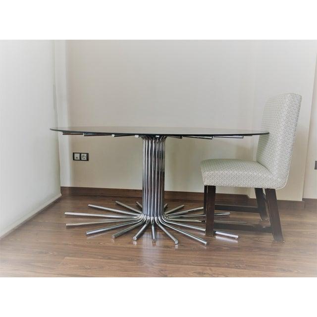 Mid-Century Chrome Starburst Dining Table - Image 6 of 8