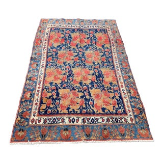 1960s Vintage Persian Seerjan Rug - 4′5″ × 7′ For Sale