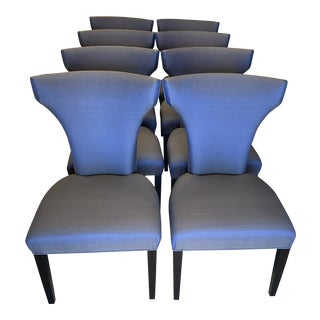 1970s Roche Bobois Upholstered Dining Chairs - Set of 8 For Sale