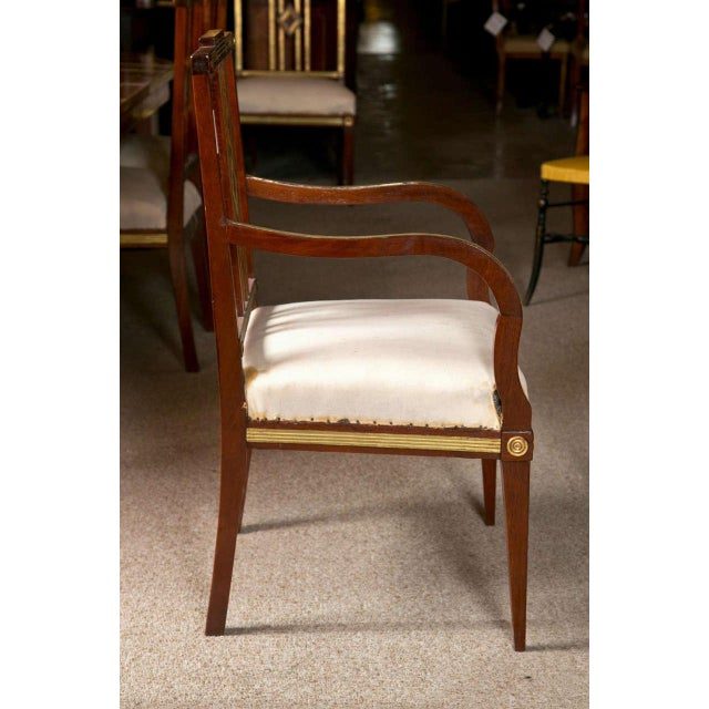 Russian Neoclassical Dining Chairs - Set of 11 For Sale - Image 5 of 9
