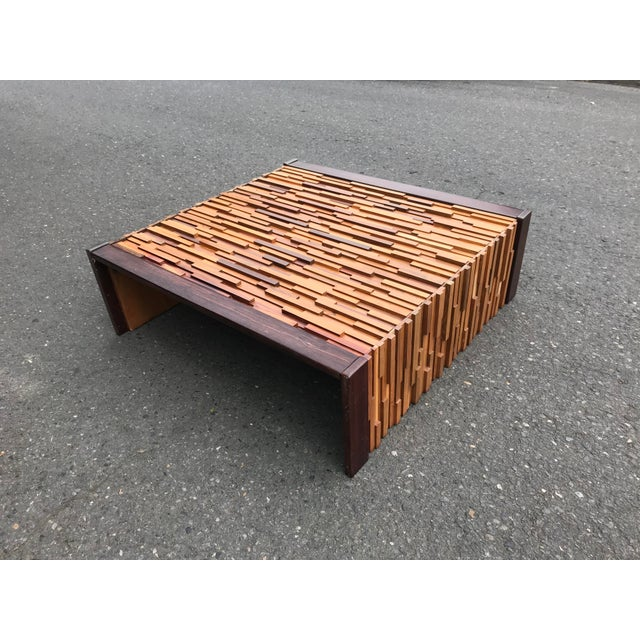 Brutalist Brazilian Rosewood Perceval Lafer Brutalist Coffee Table For Sale - Image 3 of 8