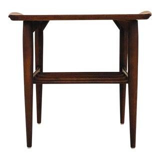 1950s Mid Century Modern Kipp Stewart Walnut Side Table For Sale