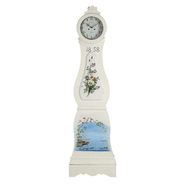 Mid 19th Century Antique Swedish Mora Clock For Sale - Image 5 of 5