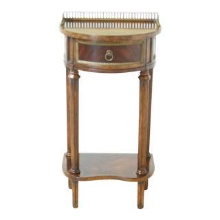 Jonathan Charles Inlaid Mahogany 1 Drawer Regency Nightstand For Sale