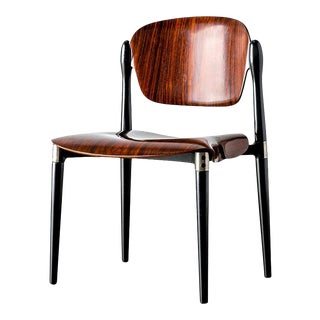 "1960s Rosewood and Black Lacquered ""S83"" Side Chair by Eugenio Gerli for Tecno For Sale"