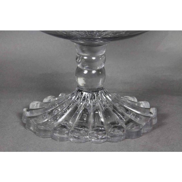 Glass George III Irish Cut Glass Footed Compote For Sale - Image 7 of 11