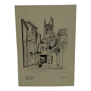 """Original """"St Thomas Church - Newport Isle of Wight"""" Print by M. Kinahan For Sale"""