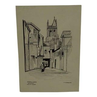 "Original ""St Thomas Church - Newport Isle of Wight"" Print by M. Kinahan"