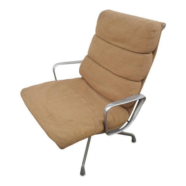 Vintage Herman Miller Padded Swivel Lounge Chair For Sale