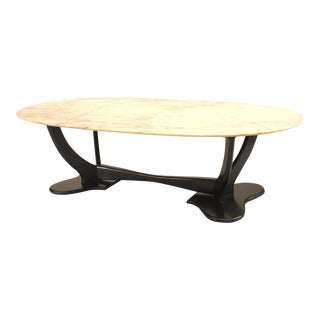 1940s Italian Marble Coffee Table For Sale