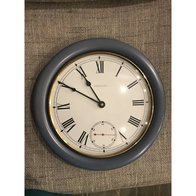 Arts & Crafts Ethan Allen Wall Clock For Sale - Image 3 of 3